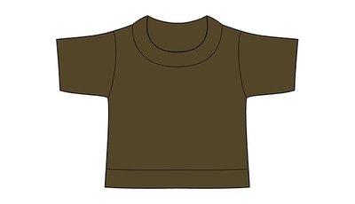 mini shirt legergroen no label