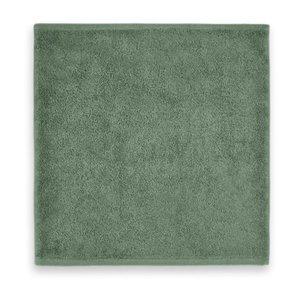 Spuugdoek stone green badstof